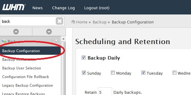 configuring cheap vps hosting backup whm