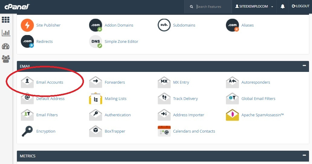 create email account in cpanel 1