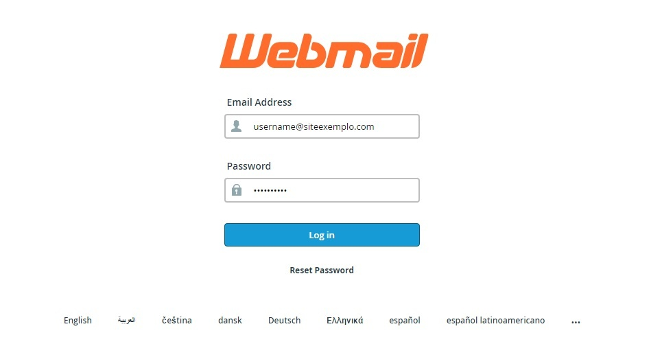 Create an email account webmail