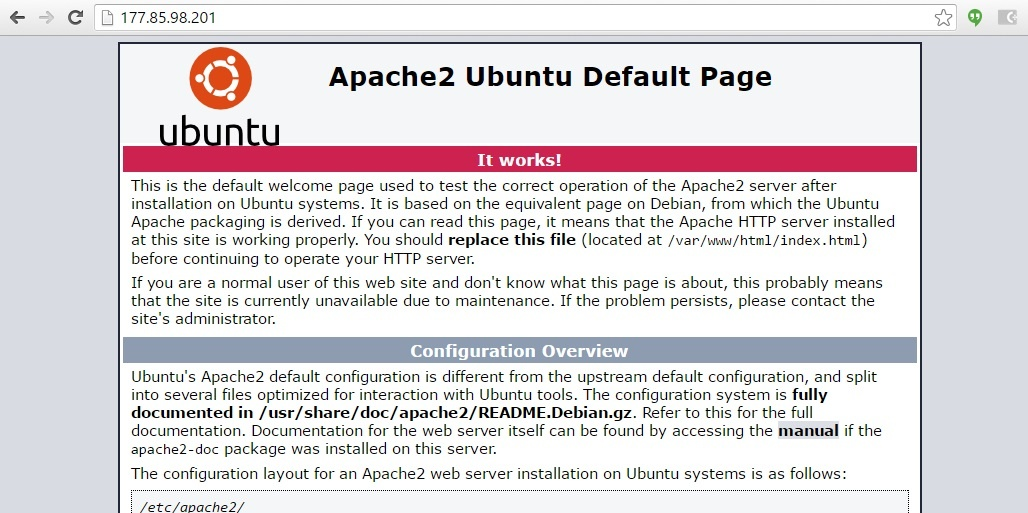 install apache in ubuntu 14 - completed process