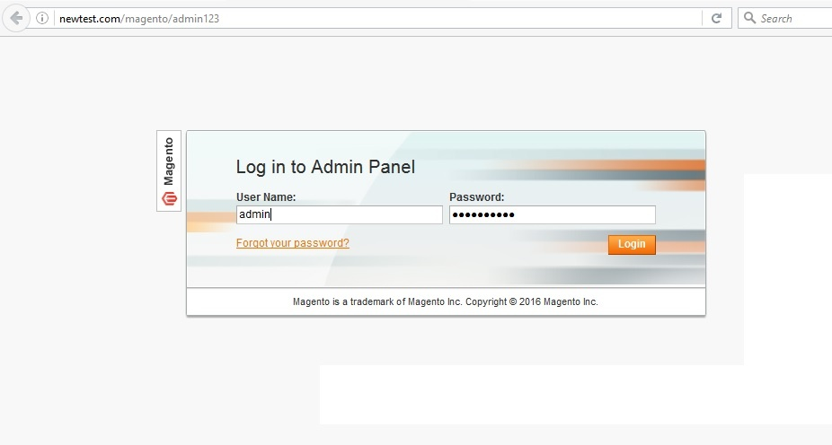 Magento tutorial first access