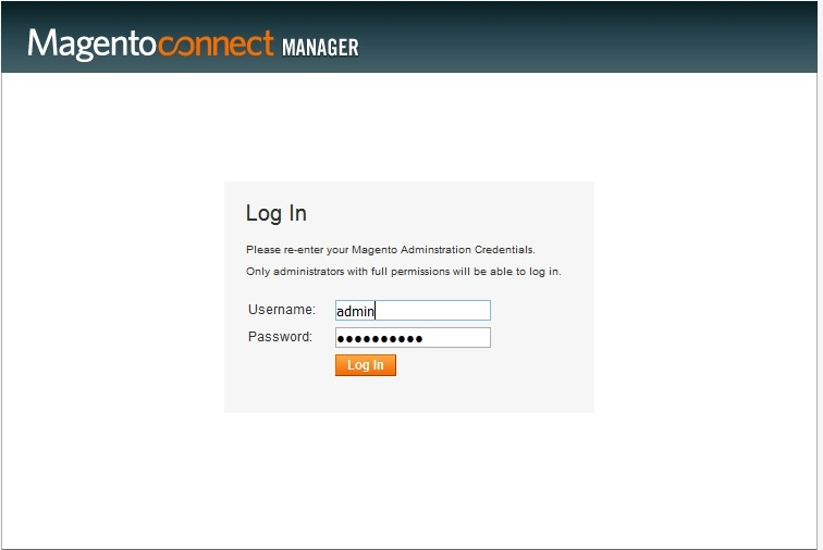 how to login to magento