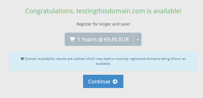 Domain name available