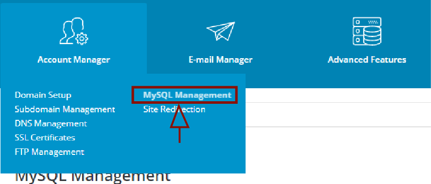 how to I host my wordpress site: Create a Database with Direct Admin MySQL Management
